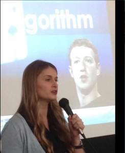 Sarah speaking at Google Breakfast