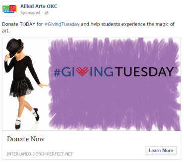 Giving Tuesday at Allied Arts OKC