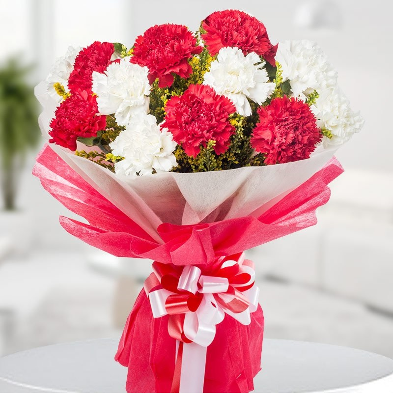 Carnation Flower Gift Carnation Flower Bunch To Deliver To India. Send Flowers