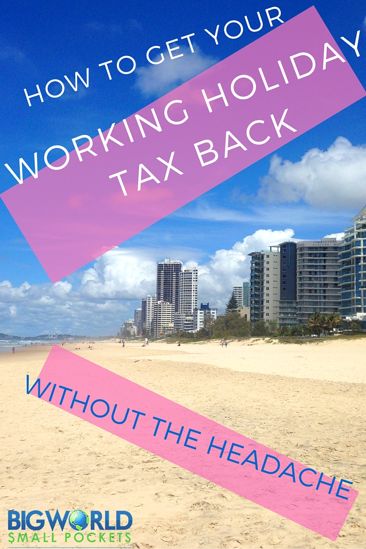 how to pay working holiday tax