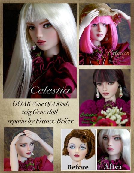 OOAK Celestion Gene wig doll.