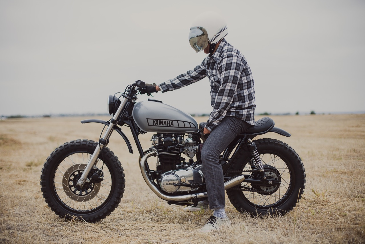 Garage Yamaha Yamaha Xs650 Scrambler By Therapy Garage Bikebound