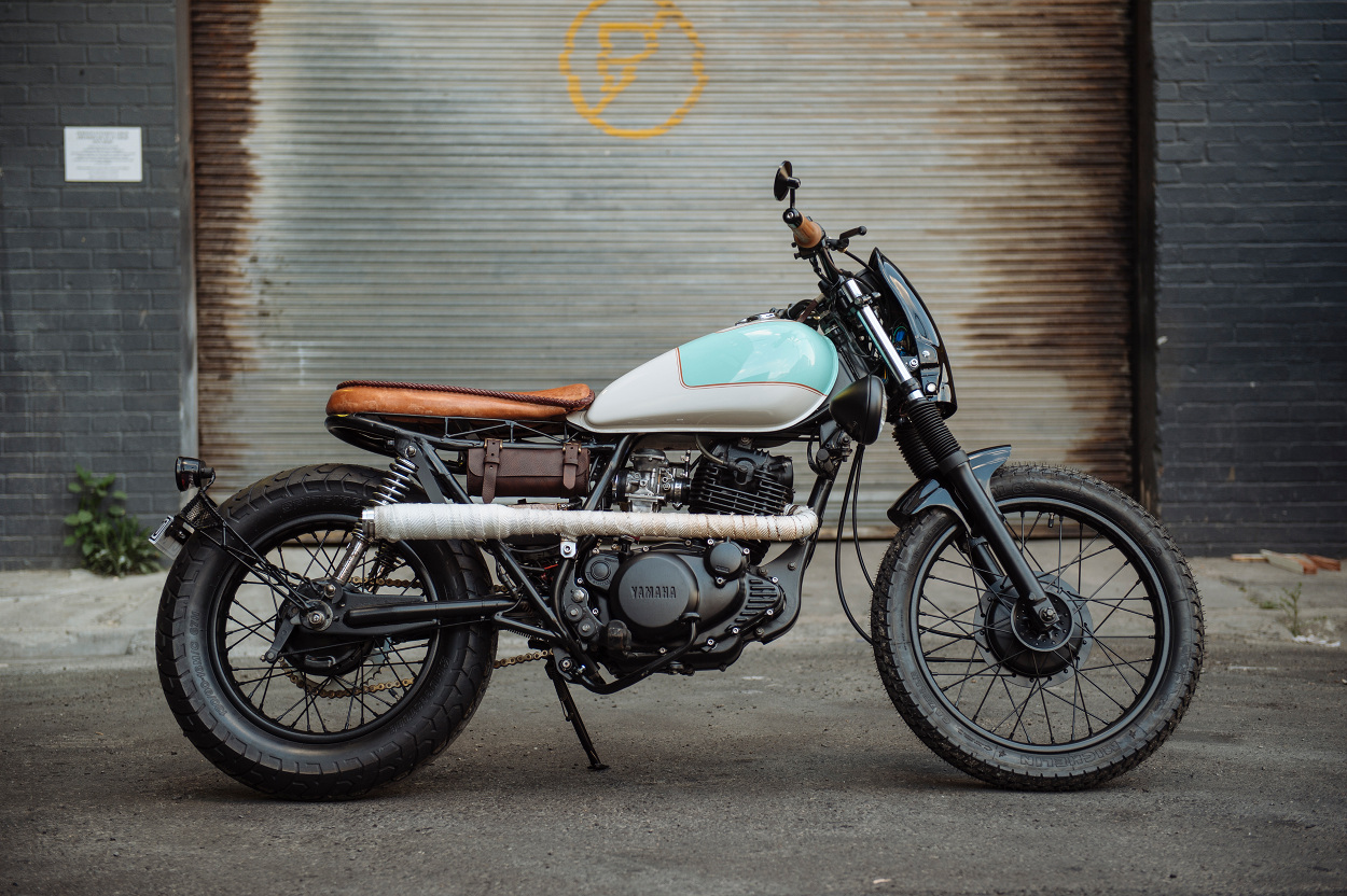 Garage Yamaha Yamaha Sr250 Brat By Greasers Garage Bikebound