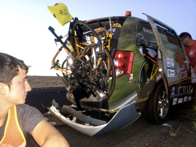 65 mph Cell Phone Driver Almost Killed CruzBike's Maria's RAAM Victory