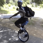 Patrick Thomas * (2004, SF to NYC n a Unicycle)