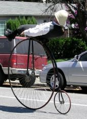Randy Mitchell* (On an Penny Farthing)