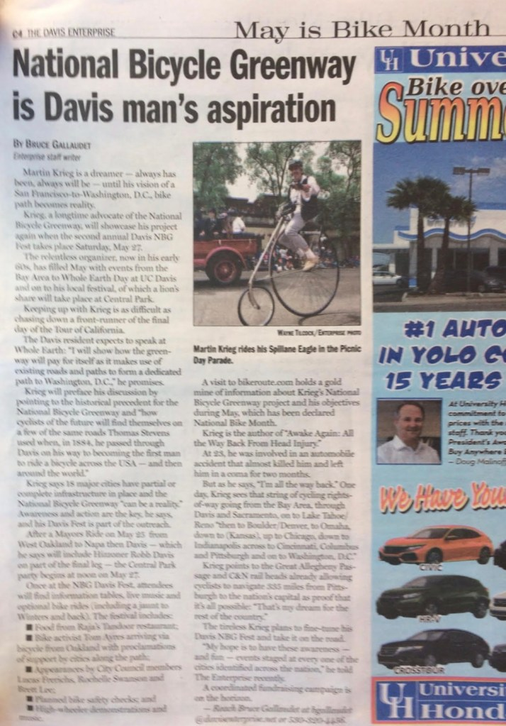 NBG in the Davis, CA News