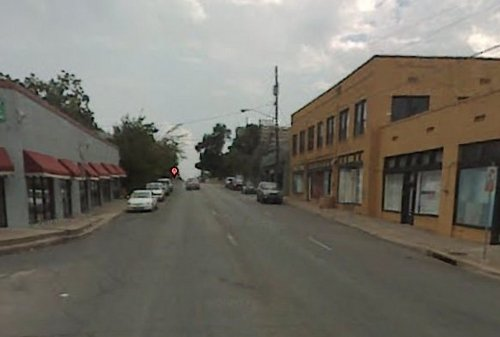 "Oak Cliff street in the ""before"" state"