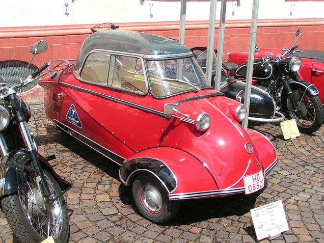 Post WWII Messerschmitt Kabinenroller microcar.