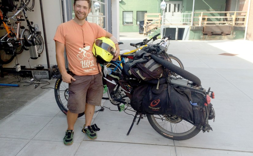 Troy Rank and his Xtracycle
