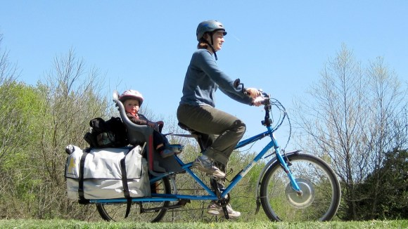 Mother and Son on electric Yuba Mundo