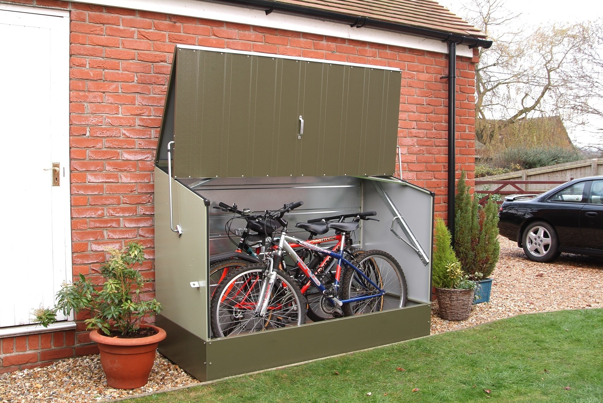Space Saving Garage Bike Storage Best Outdoor Bike Storage Shed 2019 Ideal Solution For A Small