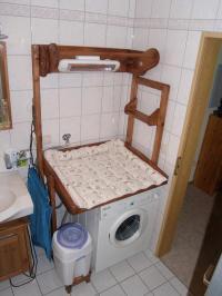 wickeltisch aus Massivholz fr Waschmaschine in Buttenheim