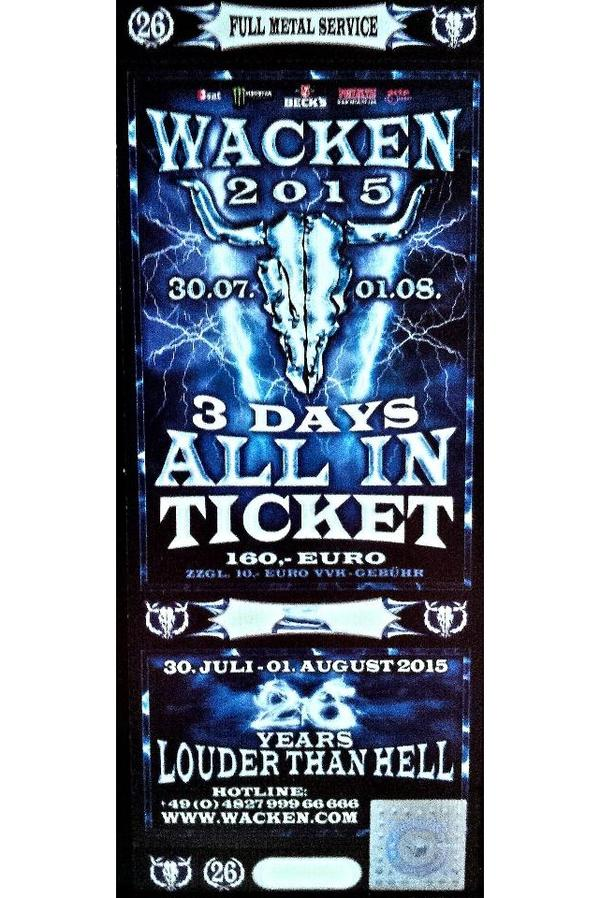 ticket wacken TICKETS Pinterest - resume holders