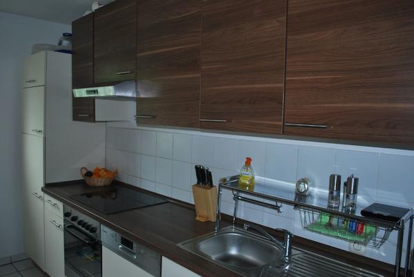 Moderne Einbauküche Von Pino In Den Farben Nussbaum \/ Vanille In   Moderne  Einbaukuche Farbe