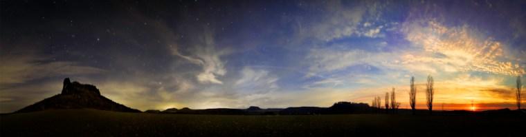 day & night panorama