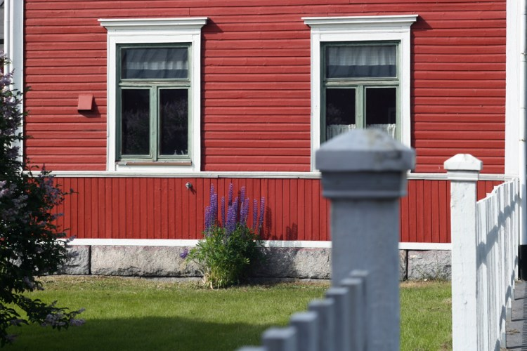 Holzhausidylle in Nykarleby