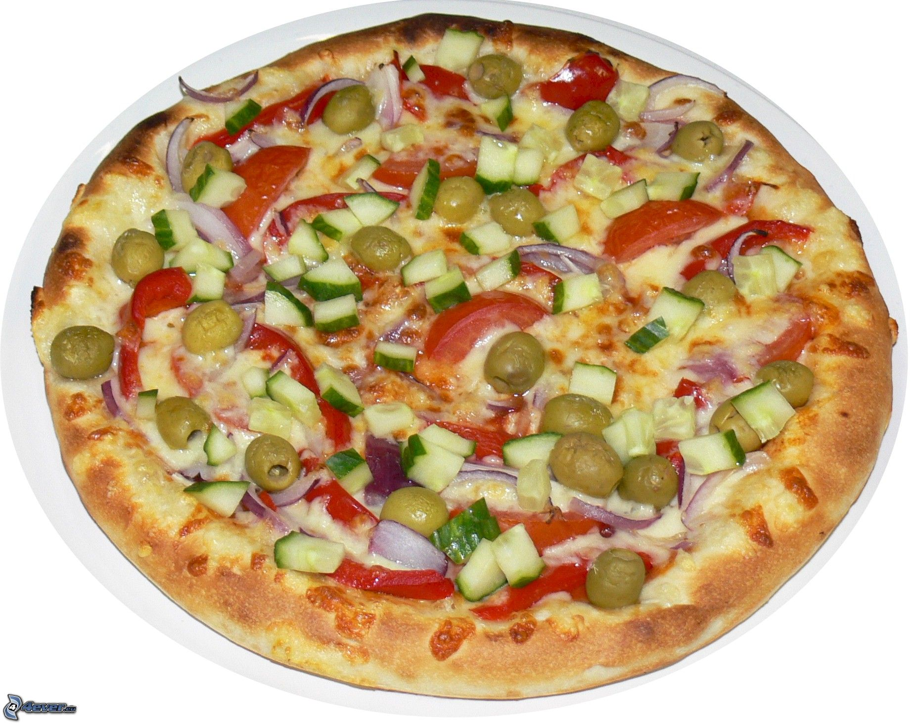 Vegetarische Pizza Vegetarische Pizza