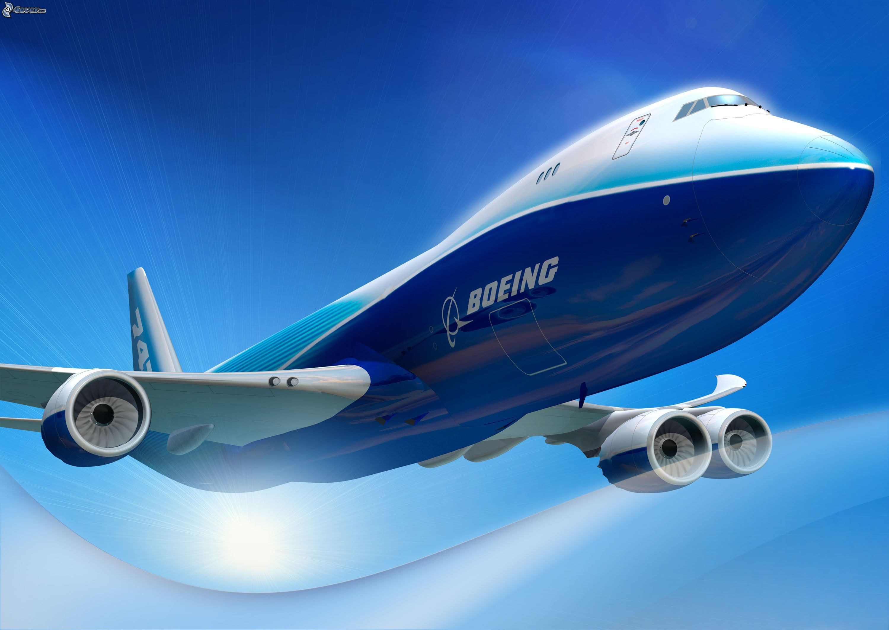Boeing Airplane Boeing 747 Dreamliner