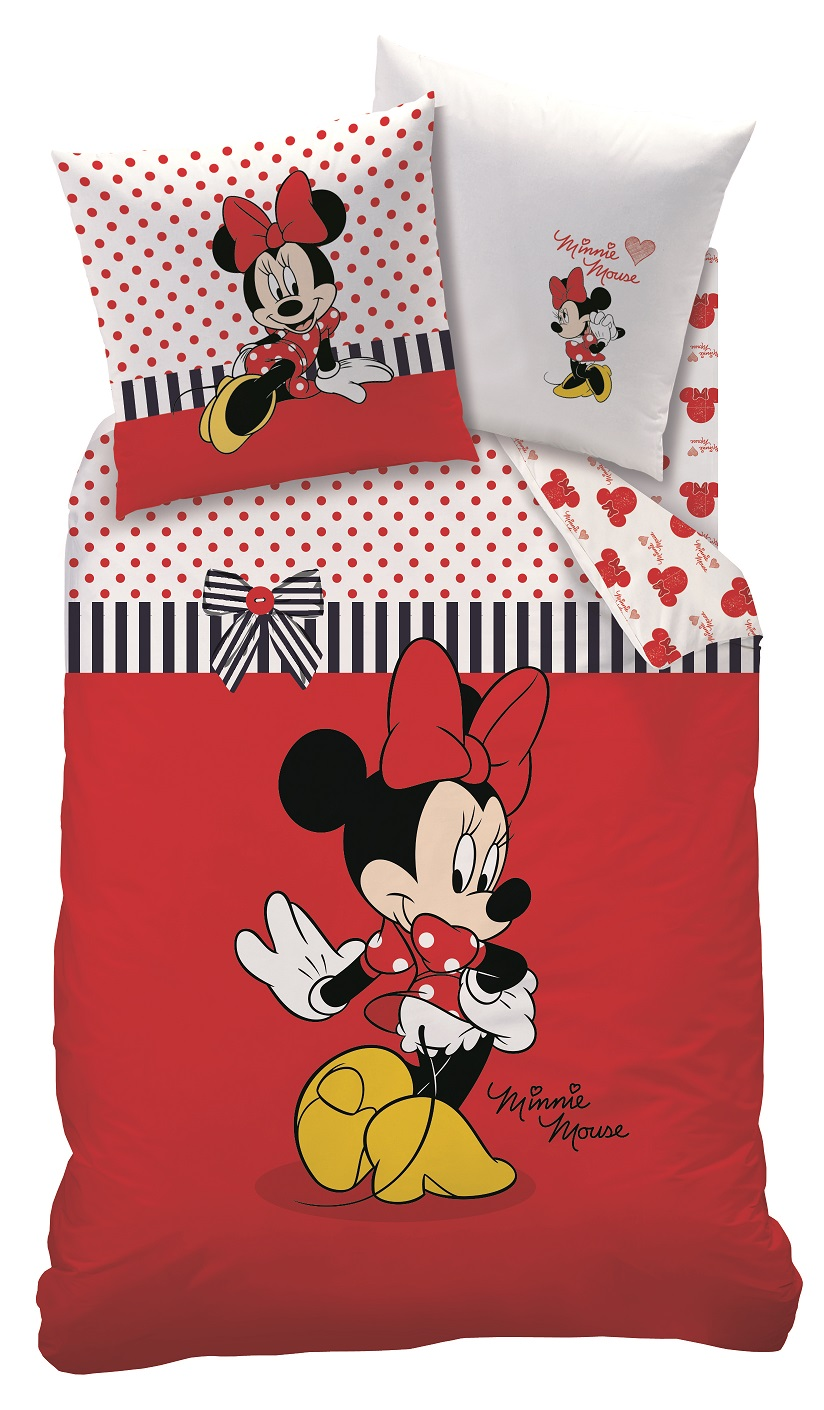 Bettwäsche Minnie Maus Details Zu Bettwäsche Set Disney Minnie Maus 135x200 80x80 Linon Minnie Mouse Sweetie Rot