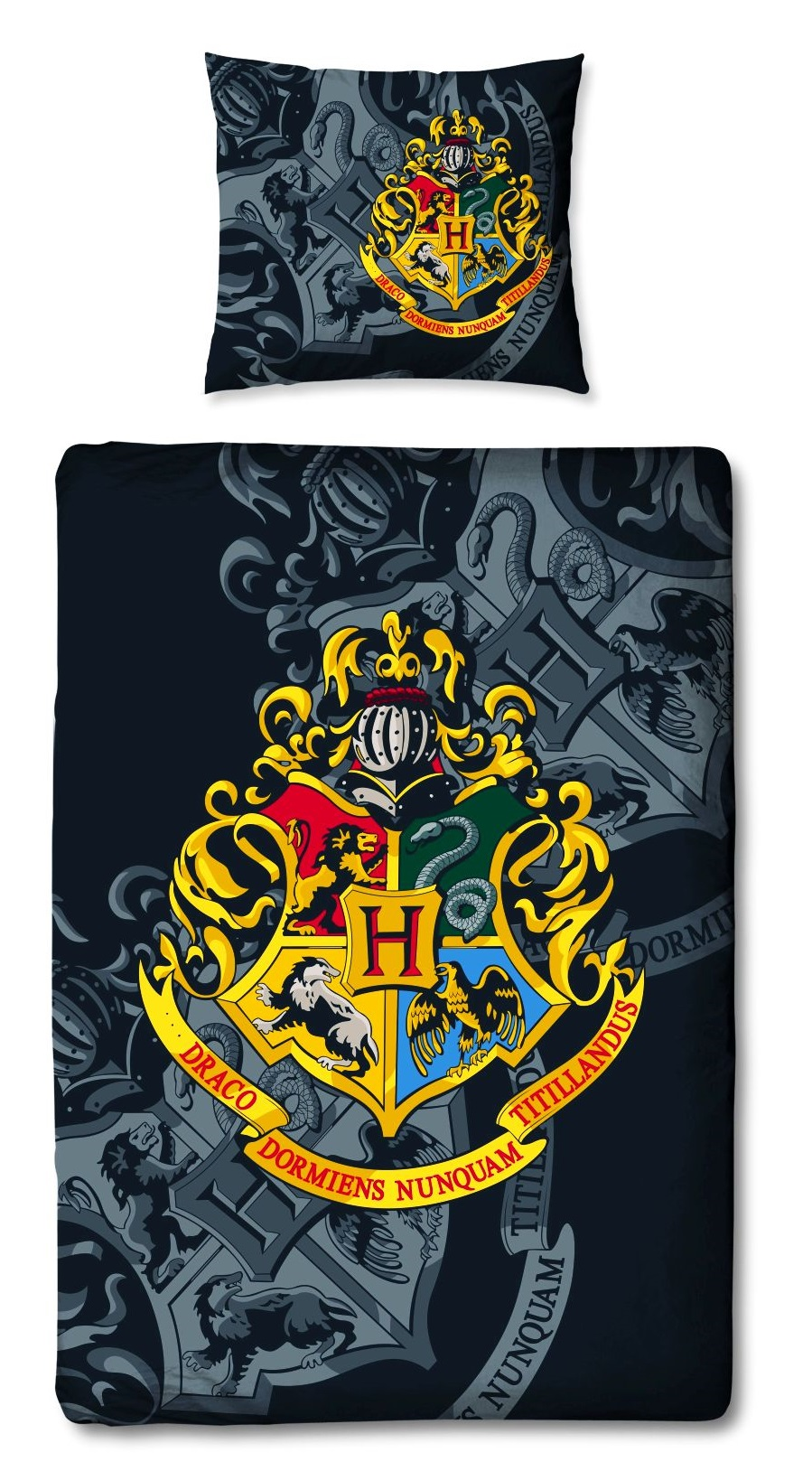 Bettwäsche Harry Potter Hogwarts Harry Potter Wende Bettwäsche Set 135x200cm 80x80cm 100