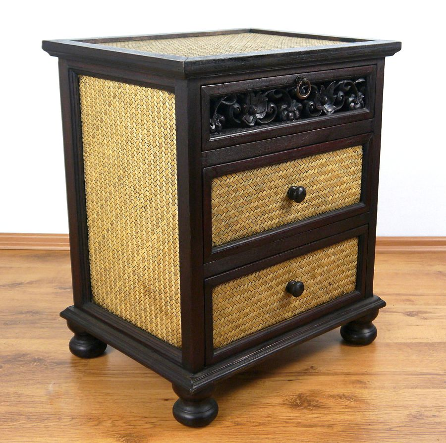 Rattan Kommode Details About Asian Chest Of Drawers Solid Wood And Rattan Furniture Handmade Thailand