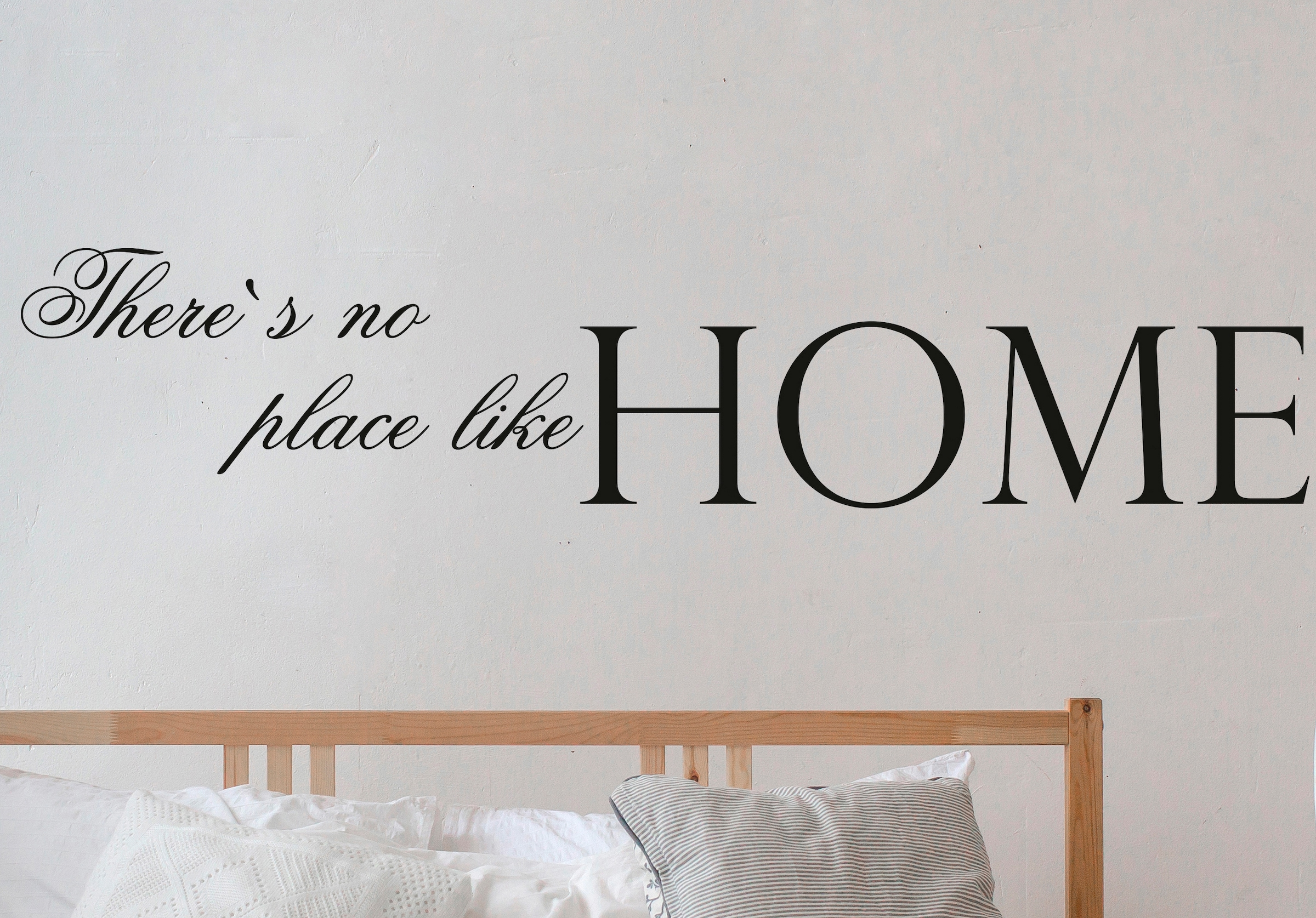 Queence Wandtattoo There S No Place Like Home Dunkelgrau 120 X 25 Cm Auf Rechnung Bestellen Baur