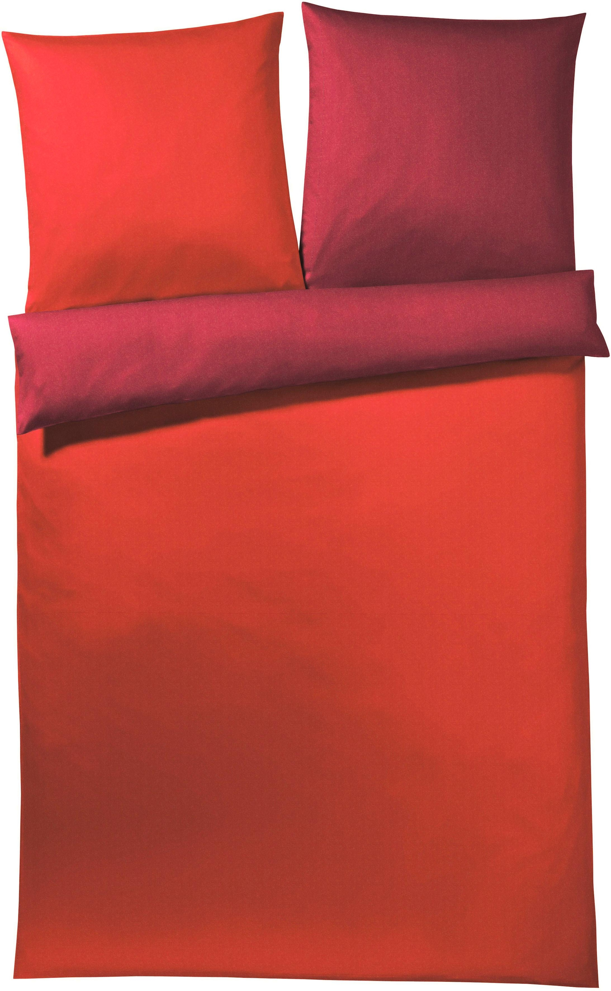 Bedding Vanezza Bettwäsche Lissa Mako Satin 100 Baumwolle Weiß Rot Orange Kisetsu System Co Jp