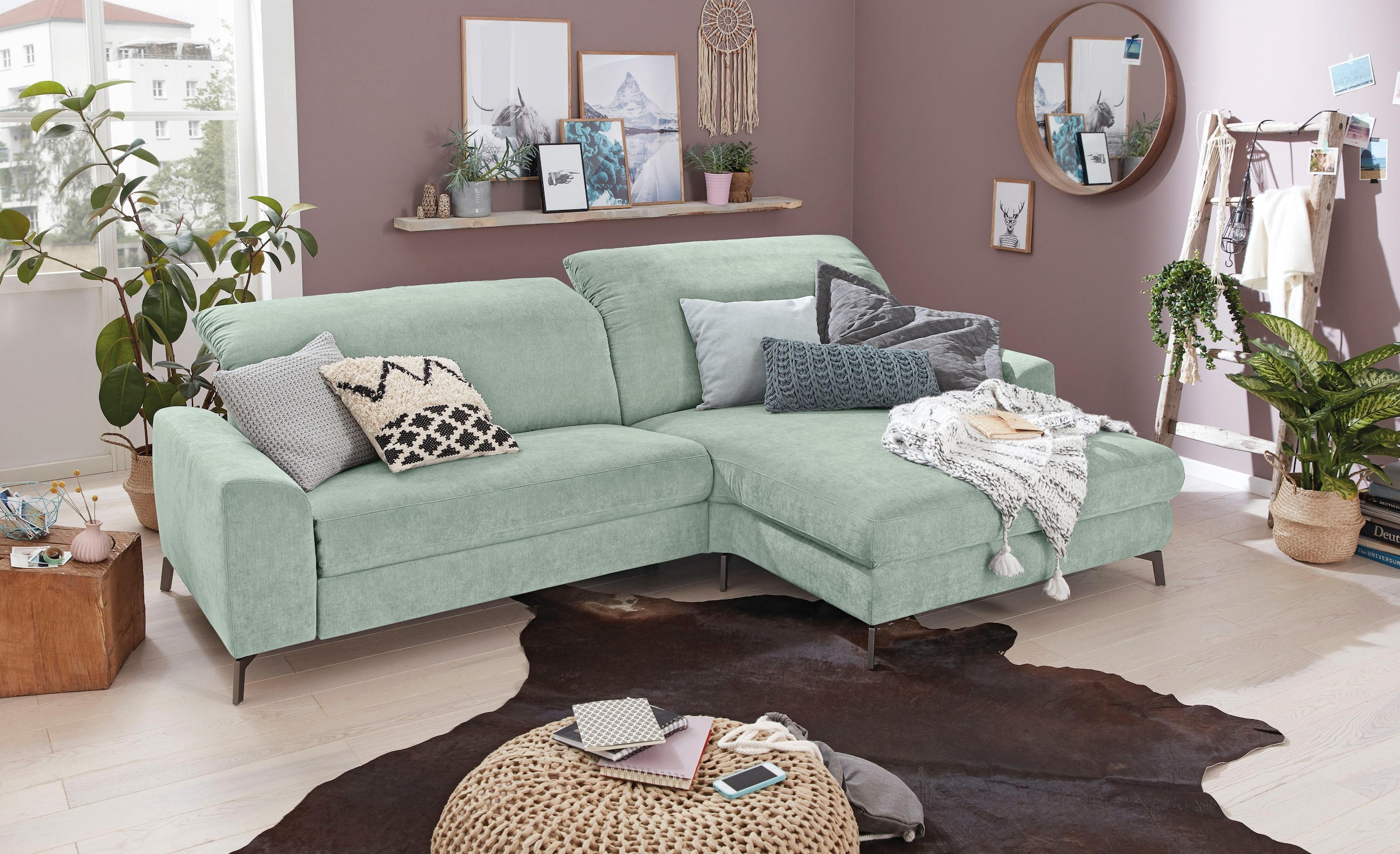 Musterring Ledersofa Set One By Musterring Ecksofa »so 5400« Bestellen | Baur
