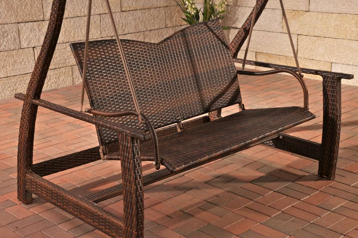 Hollywoodschaukel Polyrattan Mit Liegefunktion Hollywoodschaukel Holz Rattan Bvrao