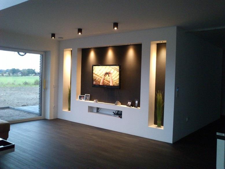 Stuckleisten, Lichtprofil für indirekte LED Beleuchtung von Wand - beleuchtung wohnzimmer ideen