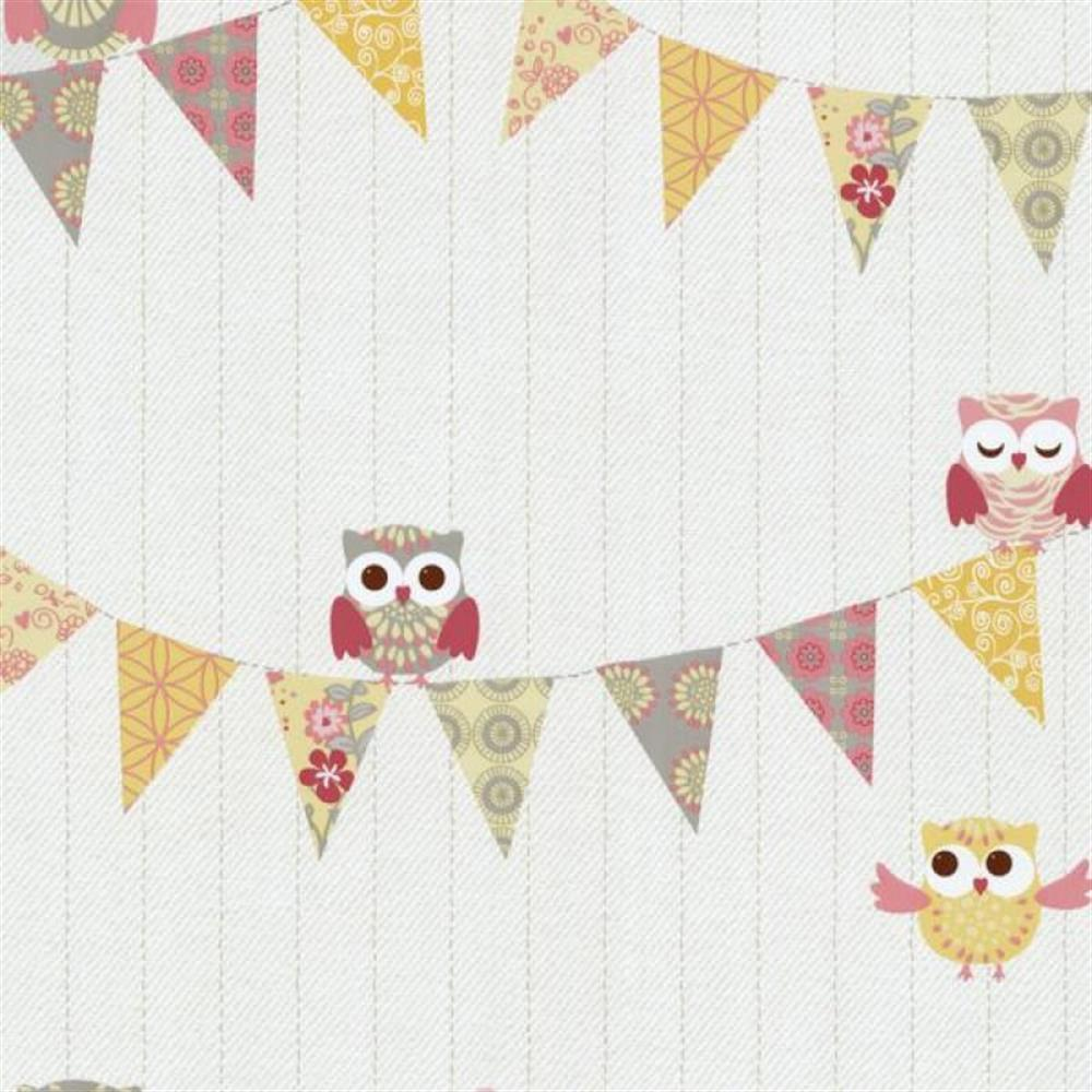 Tapeten Mit Muster P S International Happy Kids 05585 40 Tapete Muster Owl Owln White Yellow Rosa Grey