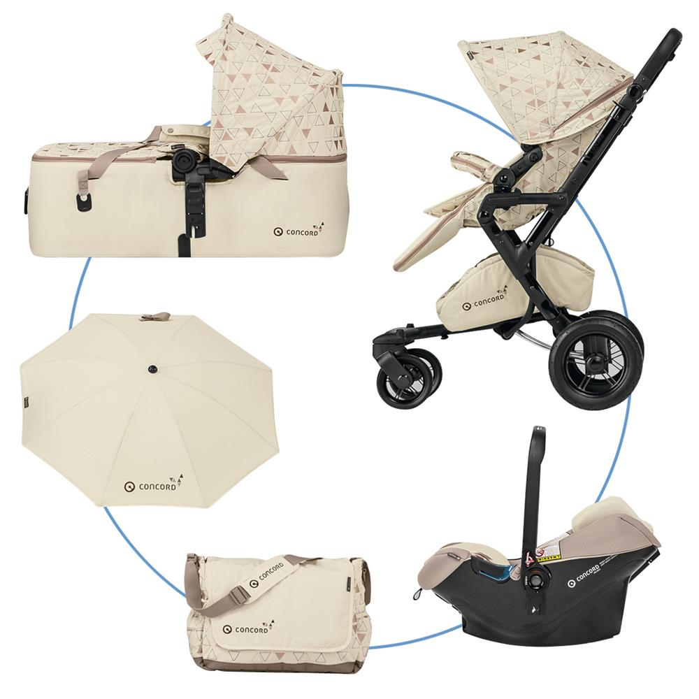 Silla Paseo Concord Neo Concord Neo Mobility Set W Buggy Neo Cradle Scout Infant Carrier Air Safe Special Edition Ivory
