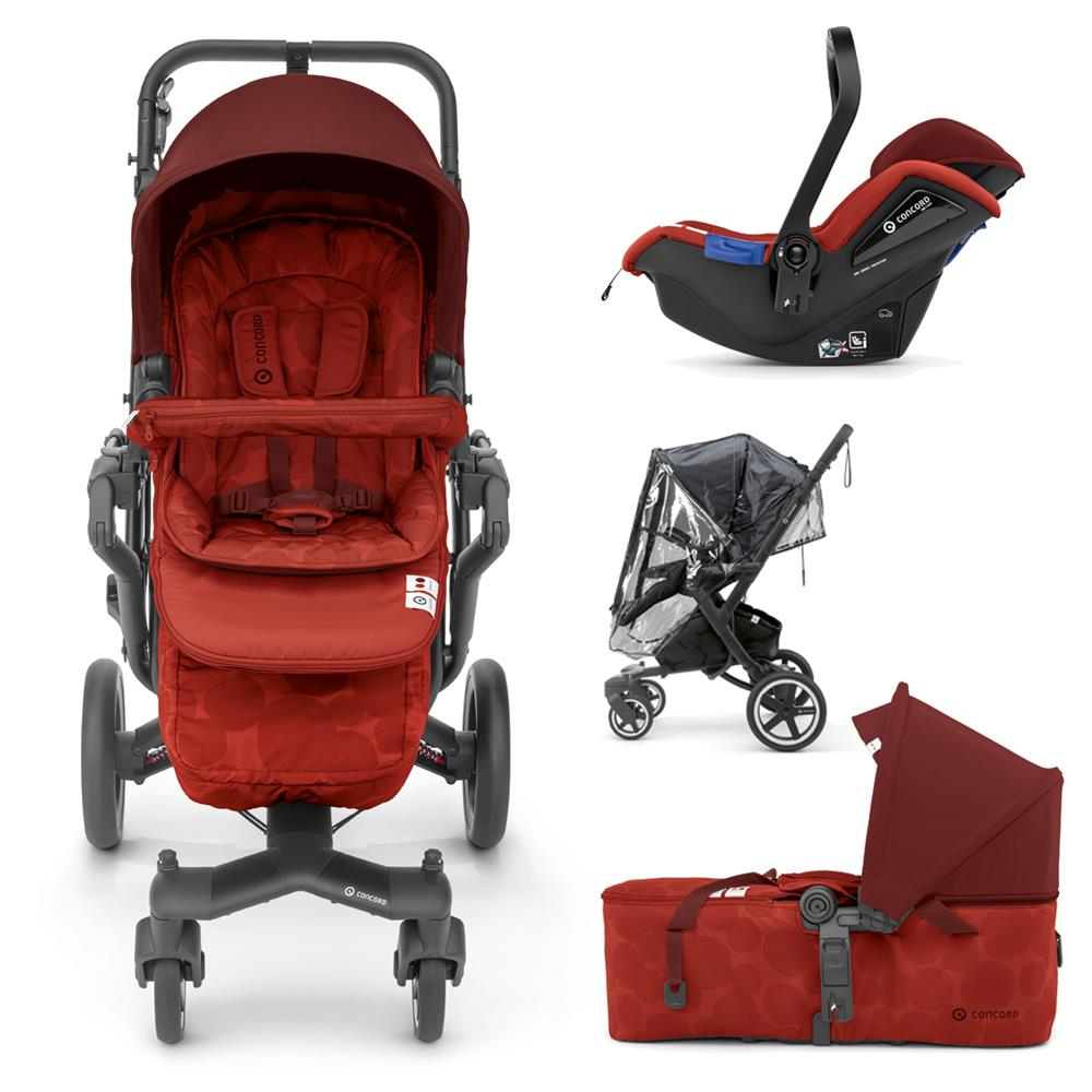 Silla Paseo Concord Neo Concord Neo Plus Mobility Set 3in1 Buggy Mit Babyschale Tragewanne Autumn Red