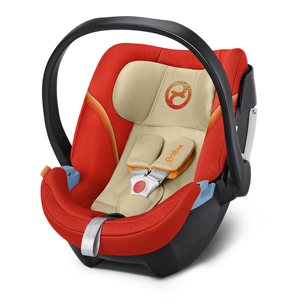 Babyschale Cybex Flugzeug Cybex Babyschale Aton 5 Design 2018 Autumn Gold Burnt Red