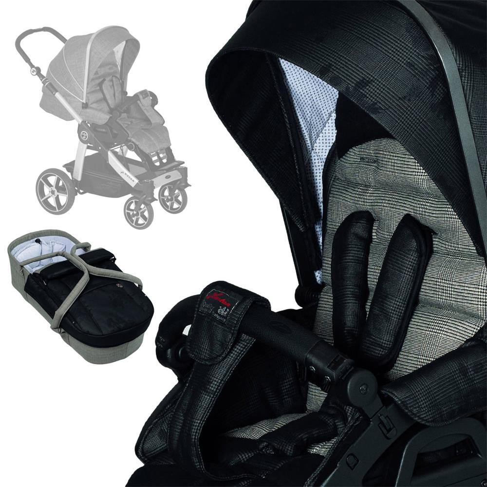 Hartan Baby One Hartan Stroller Set Racer Gt Mit Kombi Bag 618 Black Check