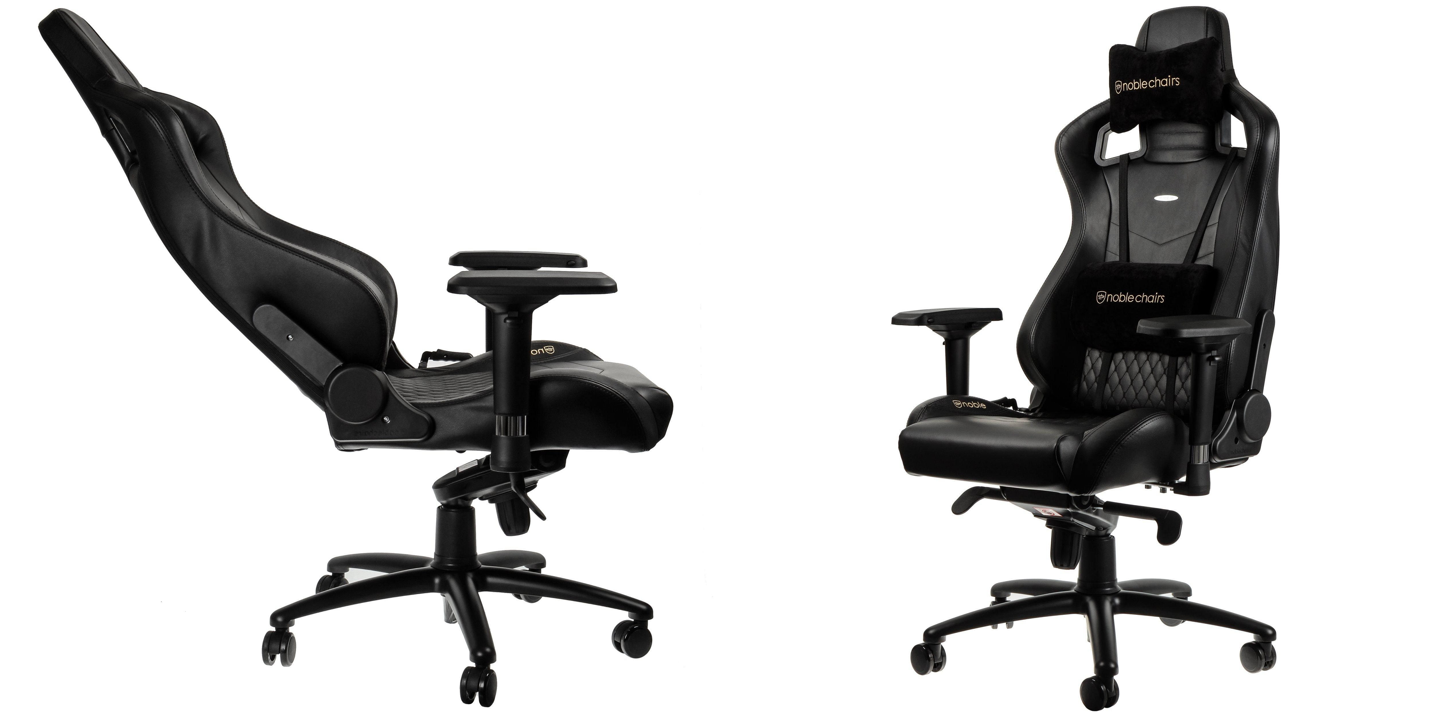 Gaming Sessel Mit Lenkrad Noblechairs Epic Echtleder Der Gaming Chair Der Höllenmaschine