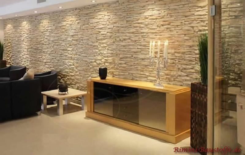 Wandgestaltung Wohnzimmer Mediterran Ideen F R Die