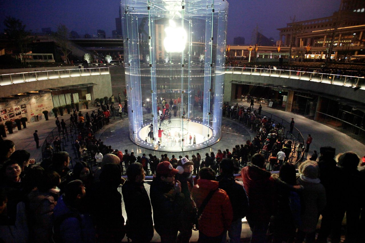 Treppeneingang Apple Store In Peking Gestürmt Iphone 4s Löst Tumulte Aus