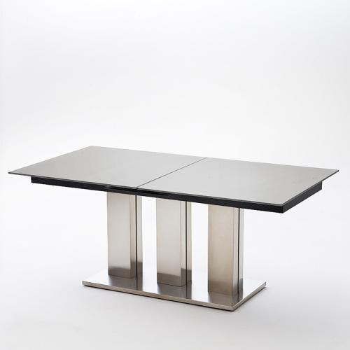 WOW 180cm Edelstahl Esszimmertisch Ausziehbar Esstisch Glastisch   Ebay  Esszimmer