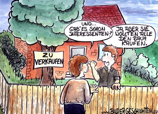 Sessel Comic Immobilien Kaufen - Cartoon