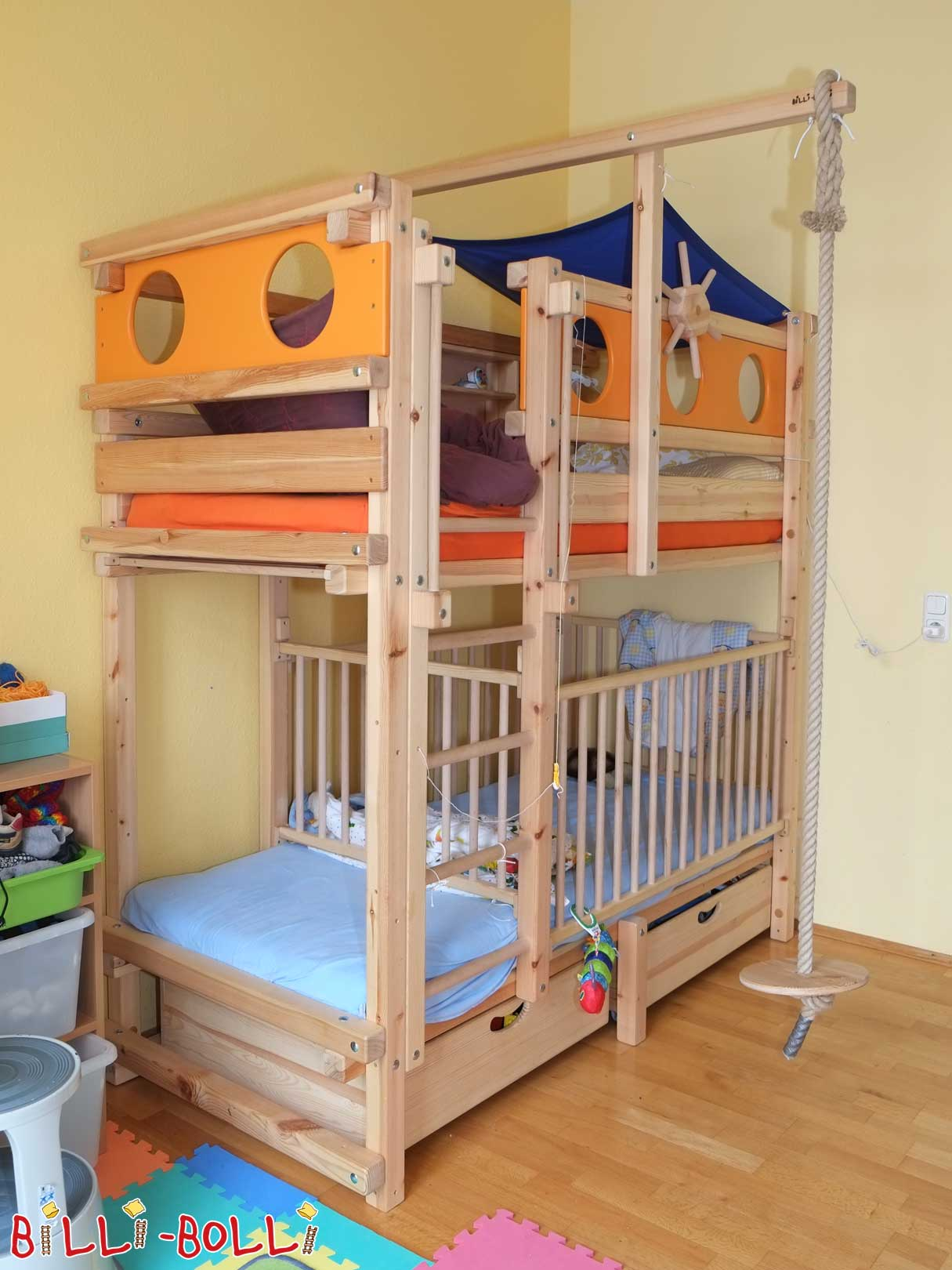 Kinderbett 90x200 Mit Rausfallschutz Bunk Bed | Buy Online | Billi-bolli Kids' Furniture