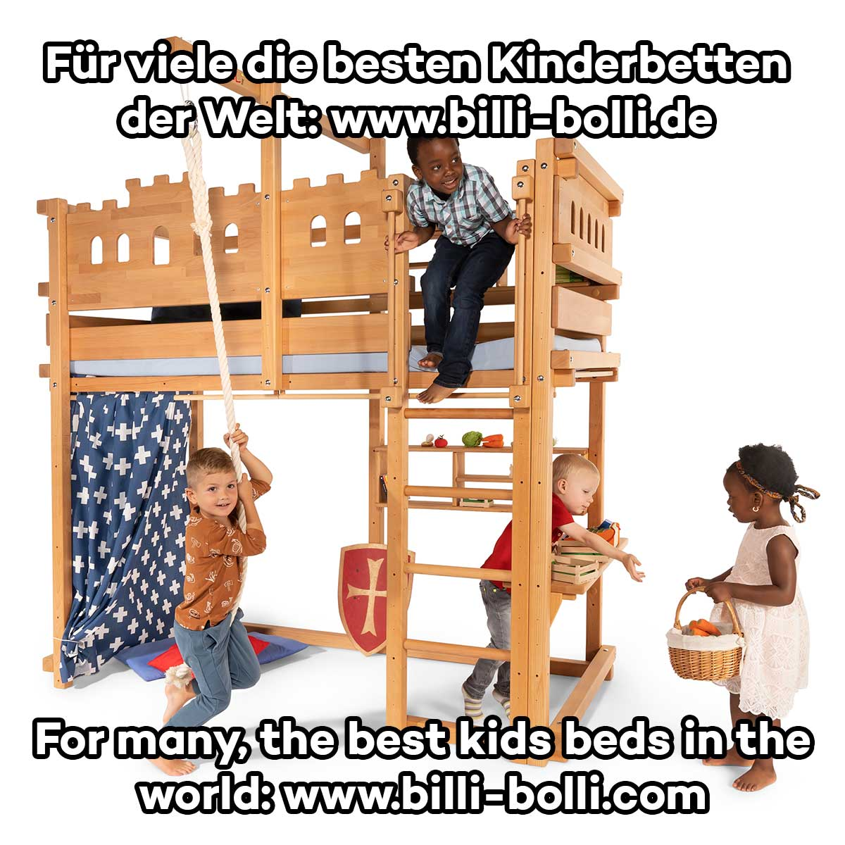 Kinderspielbett Loft Bed Adjustable By Age Buy Online Billi Bolli Kids