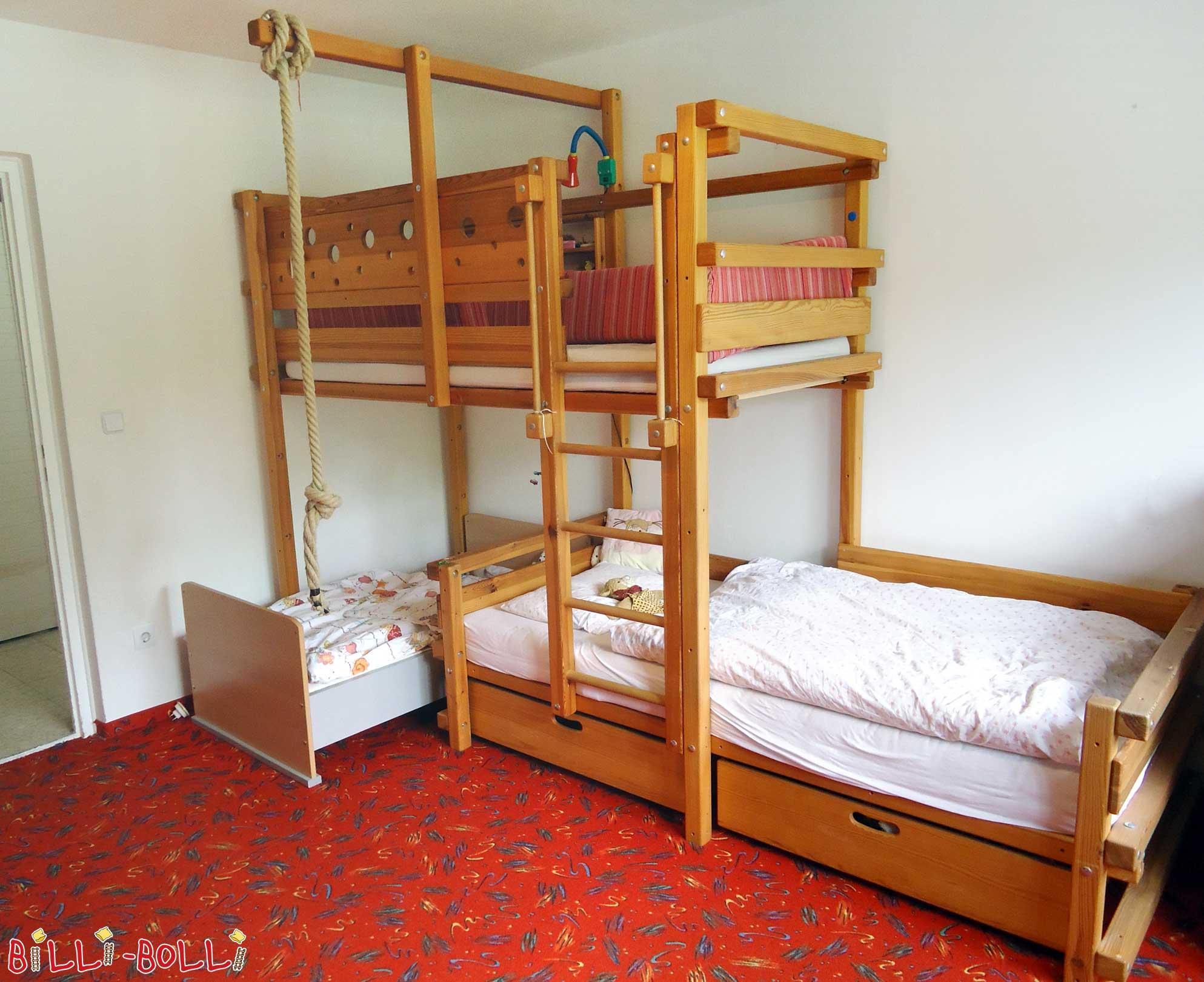 Etagenbett Dreier : Hochbett mit rutsche seitlich kinderbett treppe etagenbett