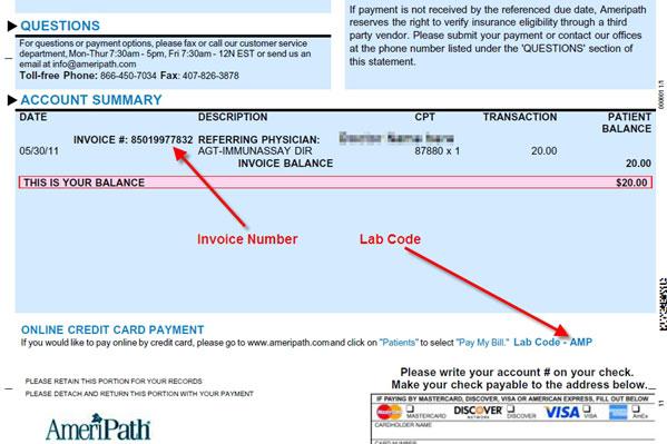 Sample Laboratory Invoice