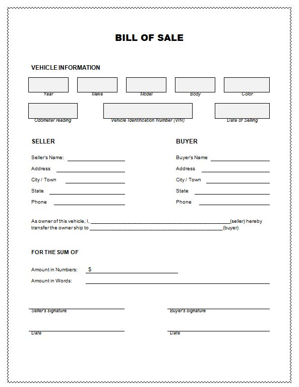 template for sale of car - 28 images - bill of sale template for - printable bill of sale template