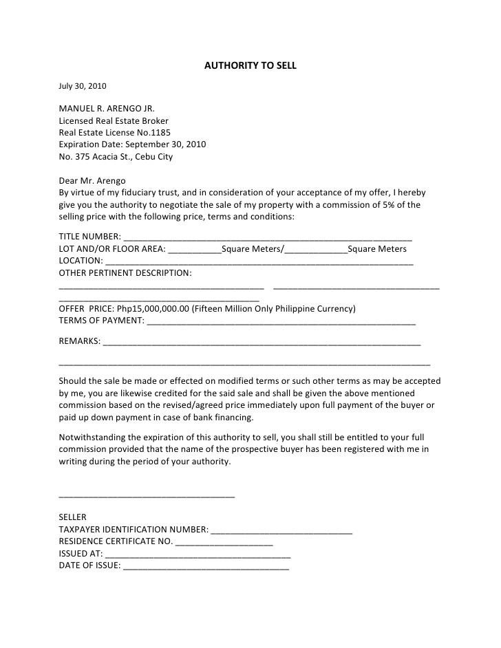 5+ Real Estate Property Offer Letter Template Bill of Sale Form