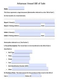 Free Arkansas Motor Vehicle Commission Bill of Sale Form ...