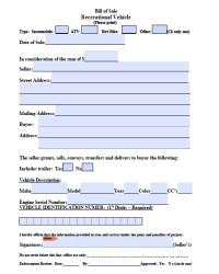 Free Massachusetts ATV/Snowmobile/Bike Bill of Sale Form ...