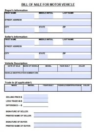 Search Results for Motor Vehicle Bill Of Sale Form ...